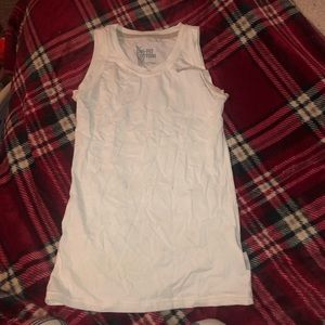 White Nike dry fit workout tank top